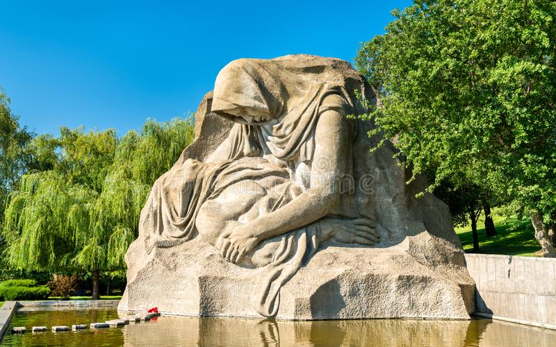 The Grieving Mother, a sculpture on the Mamayev Kurgan in Volgograd, Russia. N Federation royalty free stock photo