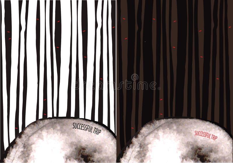 Griezelig bos vector illustratie
