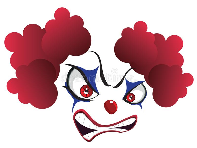 Griezelige Clown Face vector illustratie