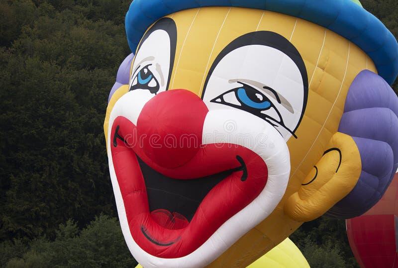 Griezelige clownballon royalty-vrije stock foto