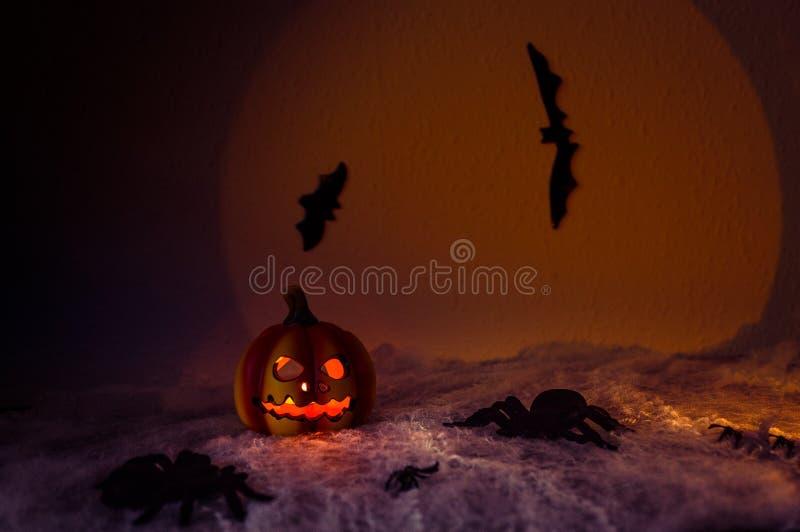 Griezelige Halloween nacht royalty-vrije stock afbeeldingen