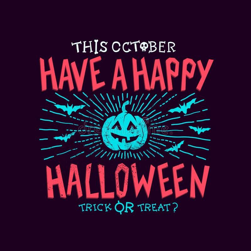 Griezelige Halloween-partij stock illustratie