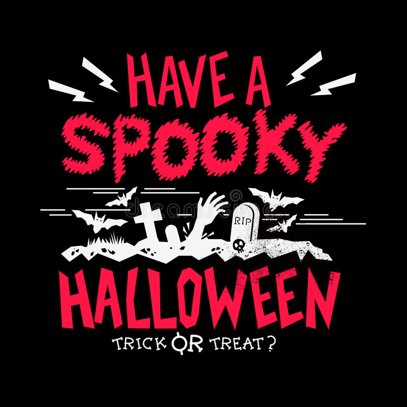 Griezelige Halloween-partij vector illustratie