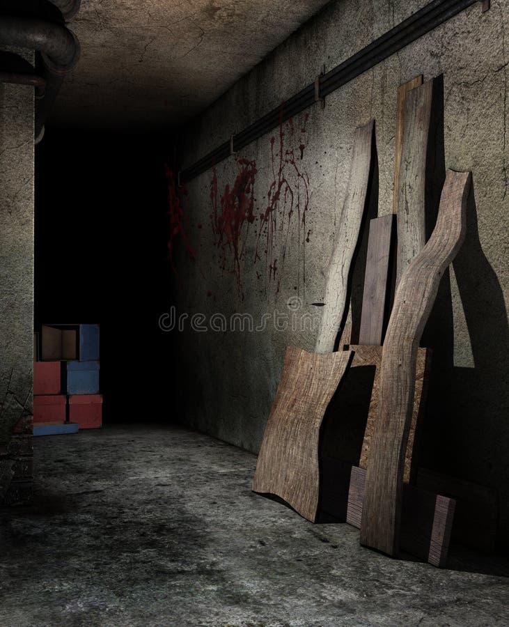 Griezelige kelderverdieping vector illustratie
