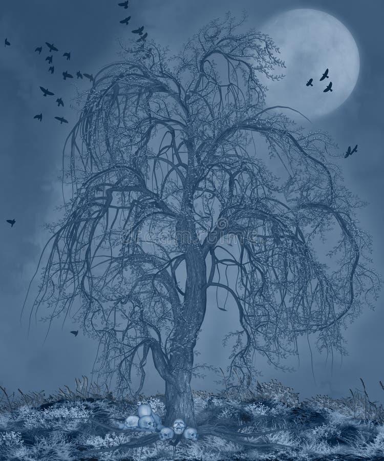 Griezelige nacht vector illustratie