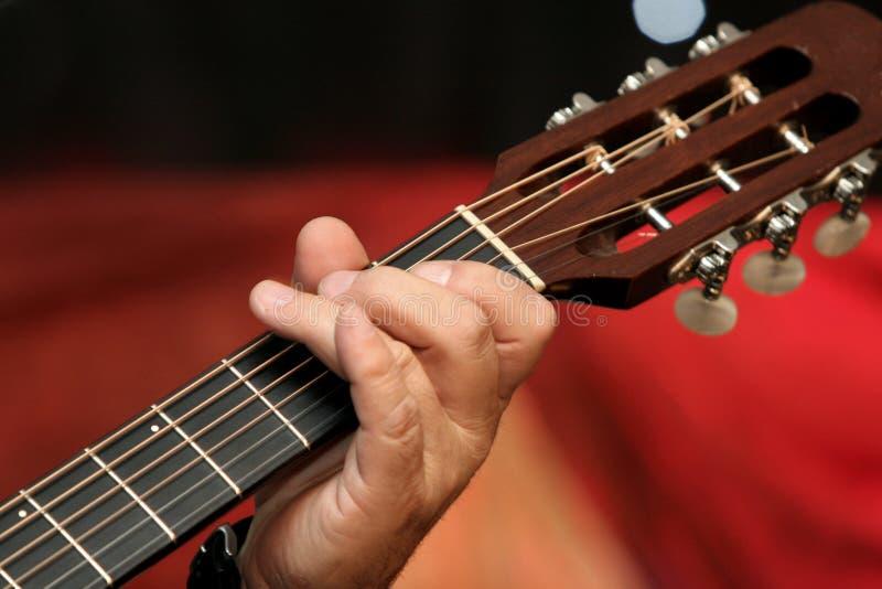 Griff de la guitarra imagen de archivo libre de regalías