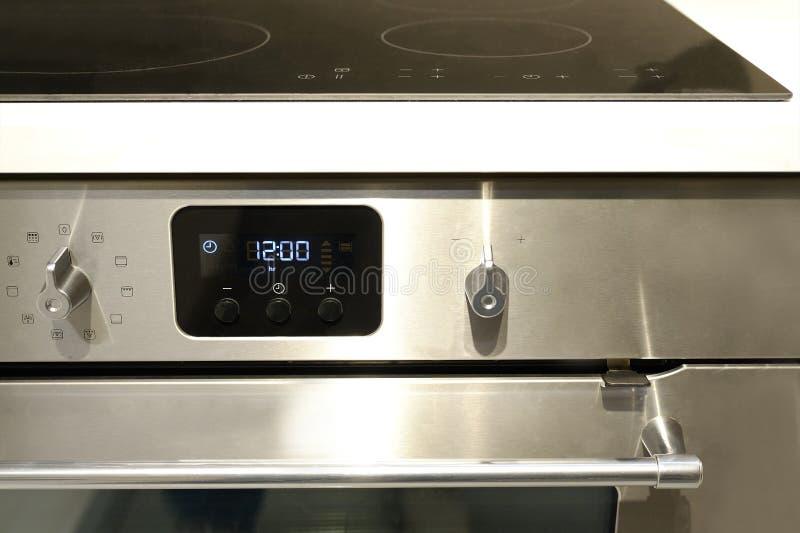 Griff steuern die Position von Modi für das Kochen im Ofen Großaufnahme von oben lizenzfreies stockfoto
