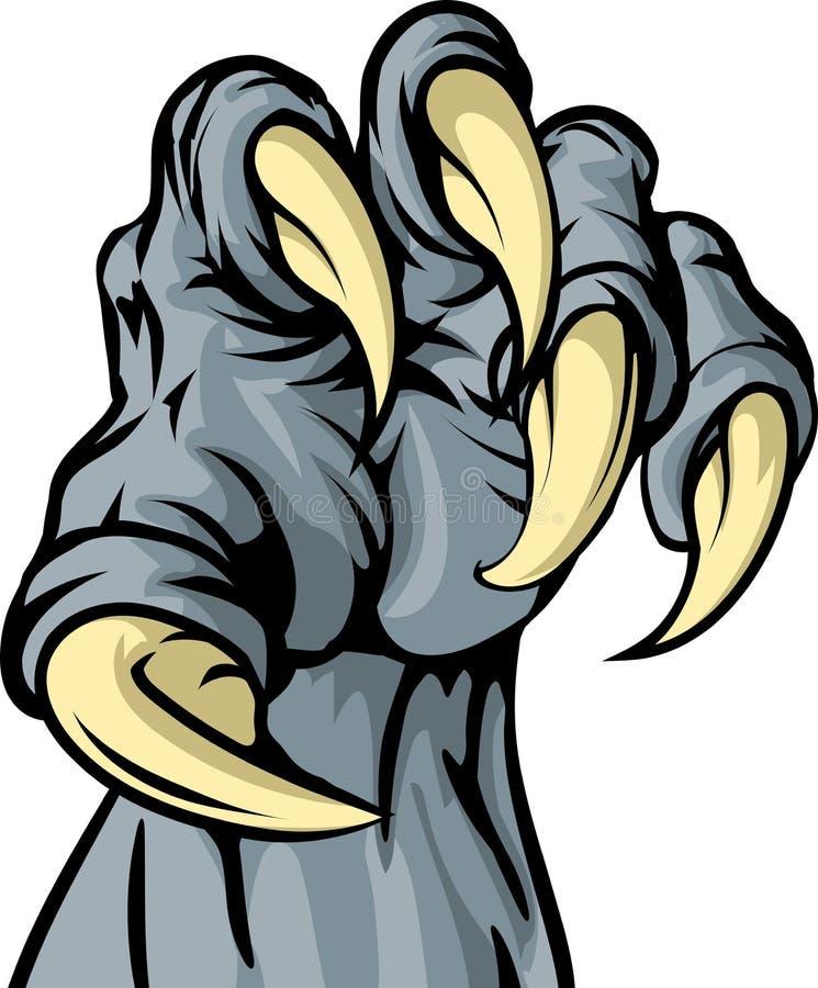 Griffe d'animal de monstre illustration de vecteur