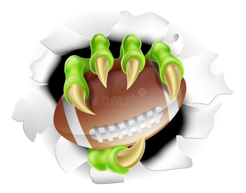 Griffe du football illustration stock