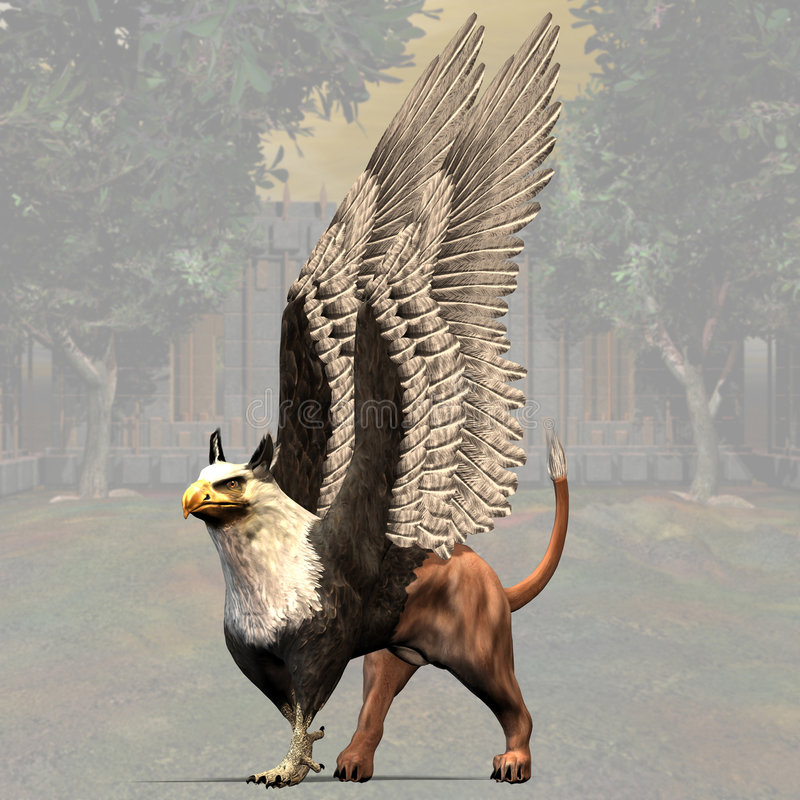 Griffin #01 royalty free illustration