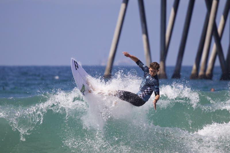 Griffin Colapinto Surfing en el US Open de las furgonetas de practicar surf 2018 fotos de archivo