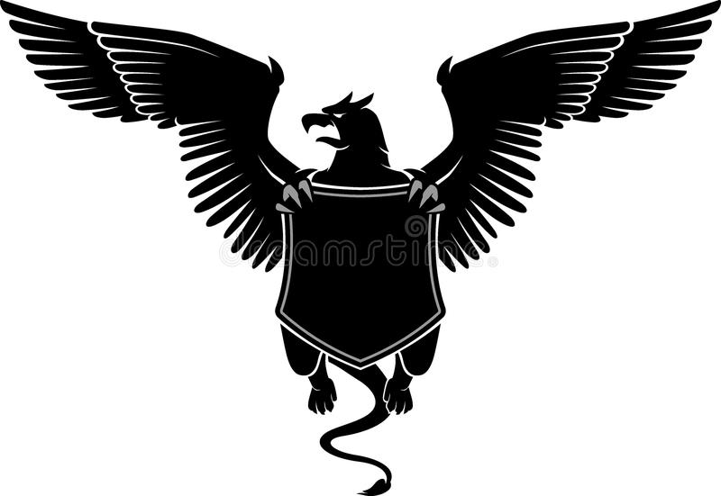 Griffin Emblem Shield stock illustratie