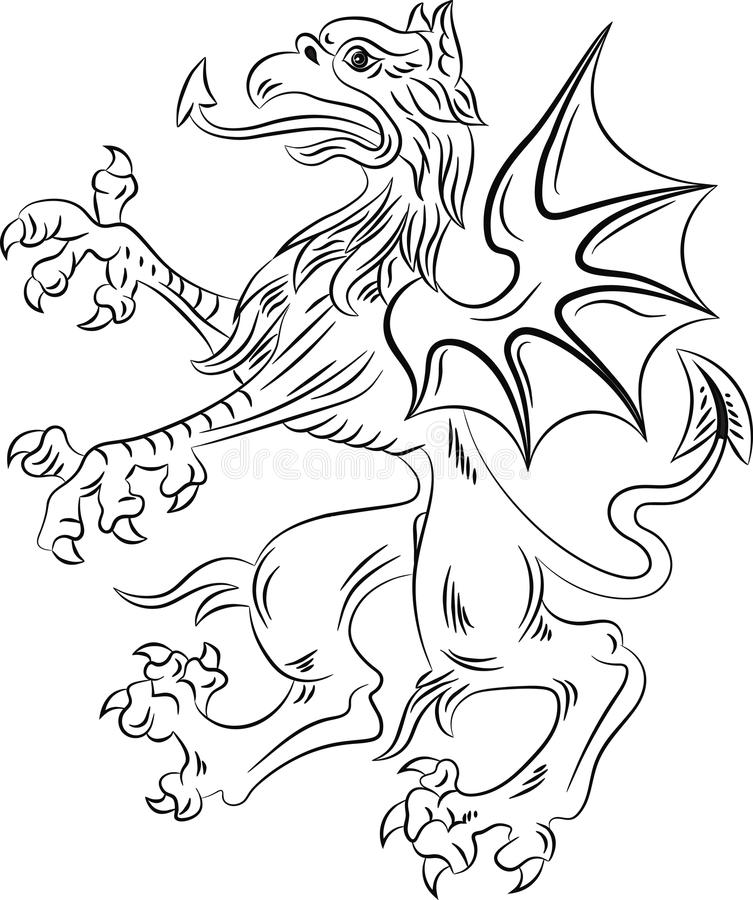 Griffin heraldry symbol royalty free stock photos