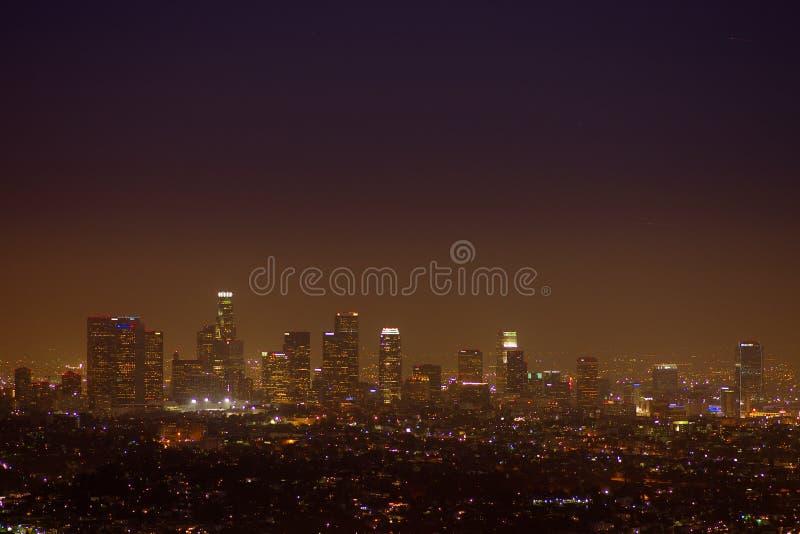 Griffin Observatory und Los Angeles lizenzfreie stockfotografie