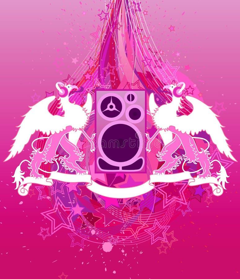 Download Griffins in headphones stock vector. Image of grunge, heraldry - 2575844