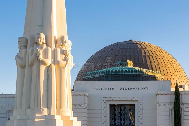 Griffith-Beobachtungsgremium in Los Angeles lizenzfreies stockfoto