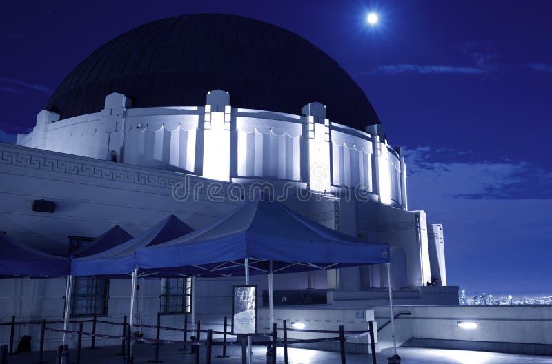 Griffith observatorium på natten royaltyfria foton