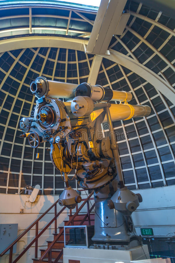 griffith observatoriumteleskop arkivbild
