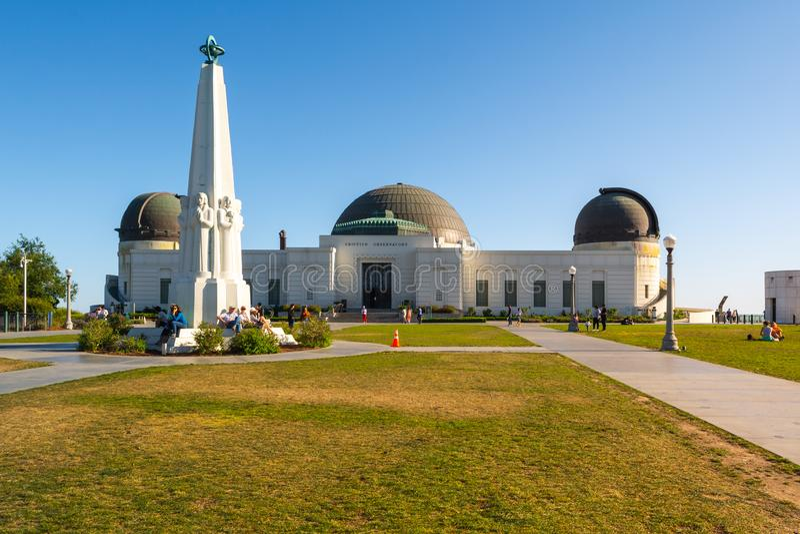 Griffith Observatory byggnad royaltyfri foto