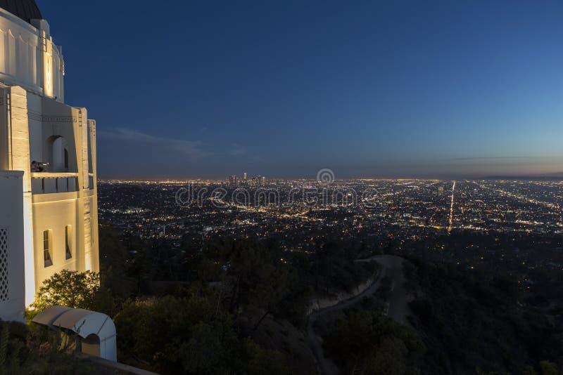 Griffith Observatory Dusk Los Angeles fotos de archivo