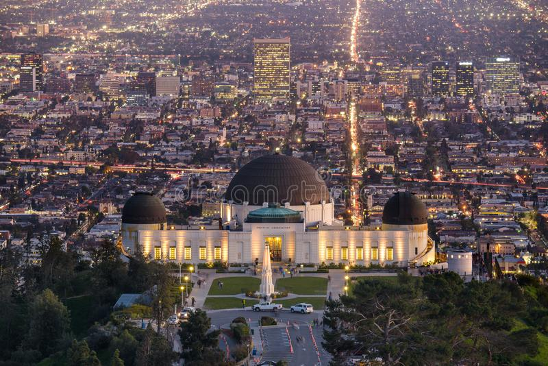 Griffith Observatory e Los Angeles immagini stock