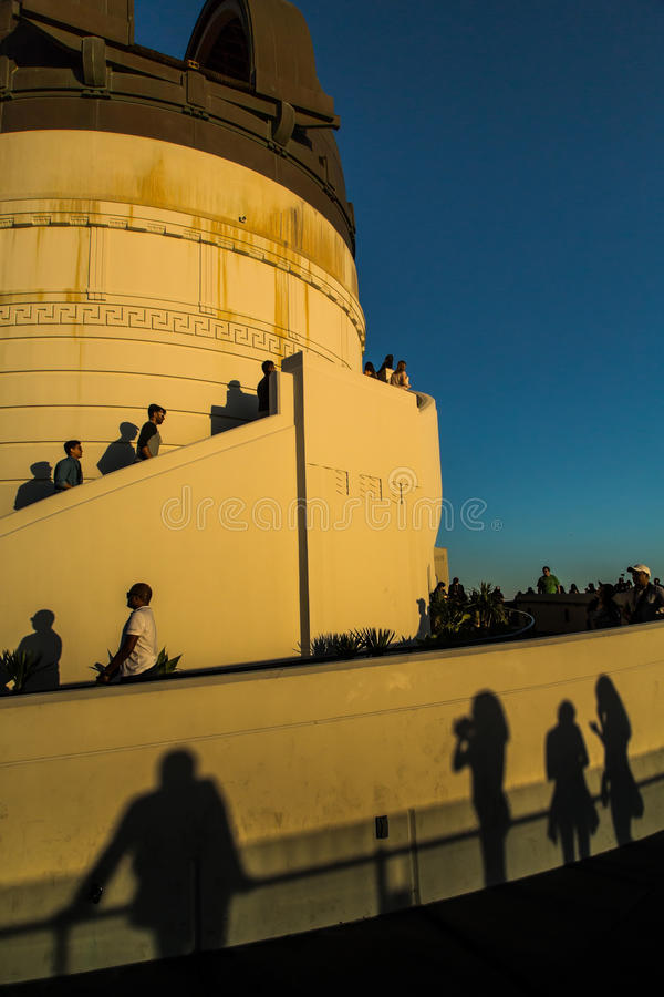 Griffith Observatory. Evening view from Griffith Observatory,L.A royalty free stock photo