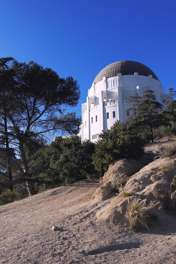 Griffith Observatory is located in Los Angeles, California, USA. the southern slope of Mount Hollywood in Los Angeles._. Los Angeles, California, USA. September royalty free stock photos