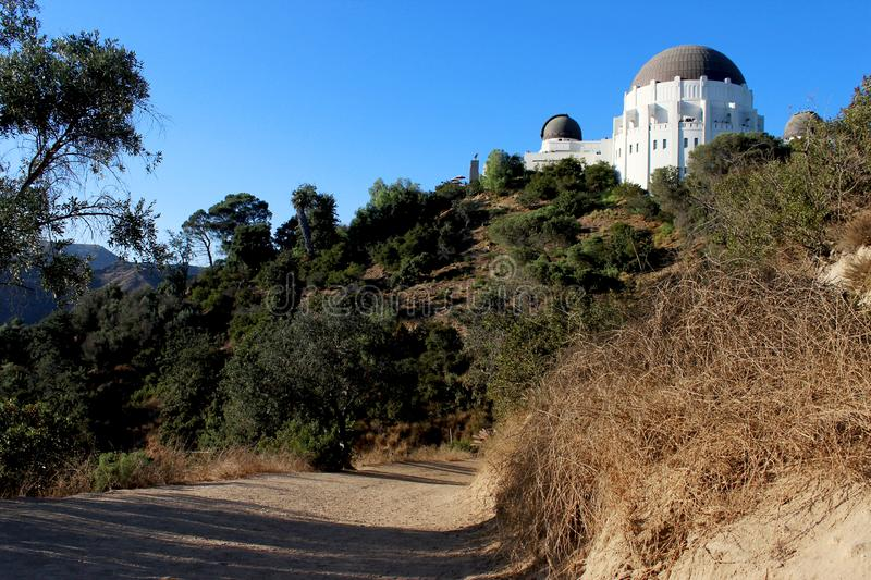 Griffith Observatory is located in Los Angeles, California, USA. the southern slope of Mount Hollywood in Los Angeles. View of the city of Los Ages. Mount stock images