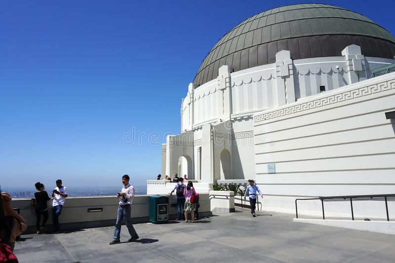 Griffith Observatory in Los Angeles, stock fotografie
