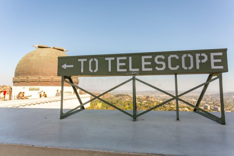 Griffith Observatory fotografering för bildbyråer