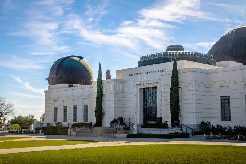 Griffith Observatory - Los Angeles, Kalifornien, USA arkivbild