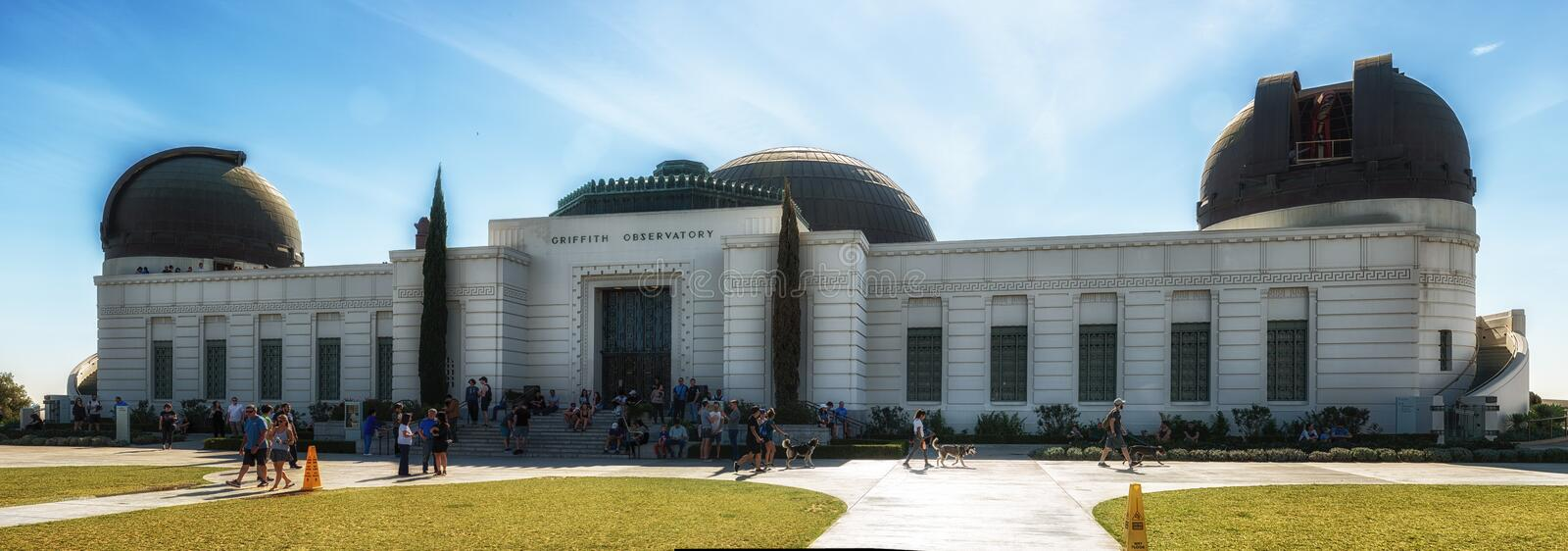 Griffith Observatory Monument degli astronomi a Los Angeles Cali immagine stock