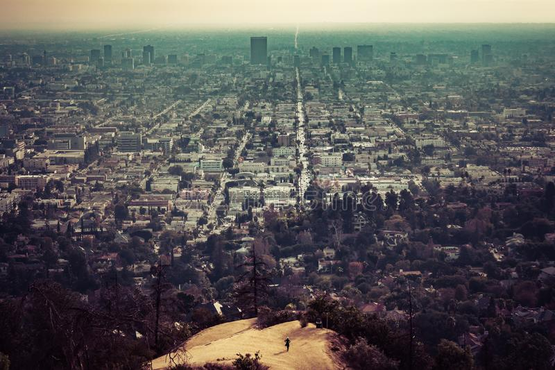 Griffith Observatory Viewpoint immagine stock