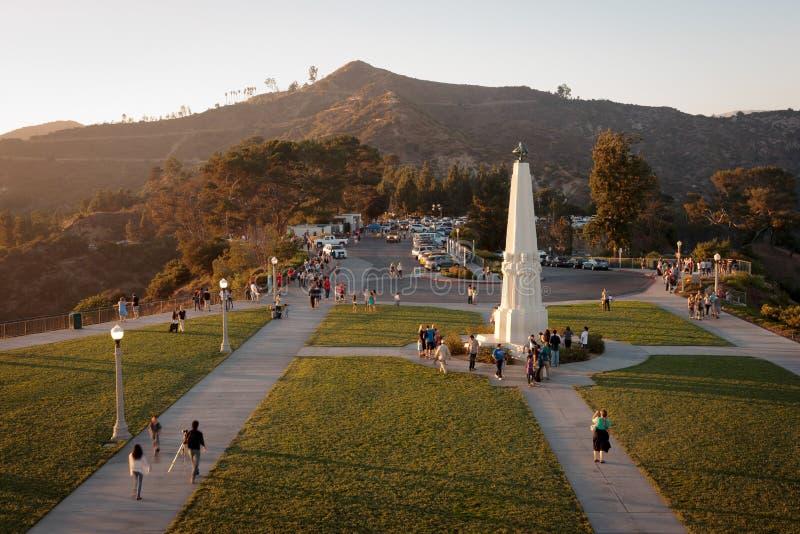 Griffith-Park-Beobachtungsgremium lizenzfreies stockbild