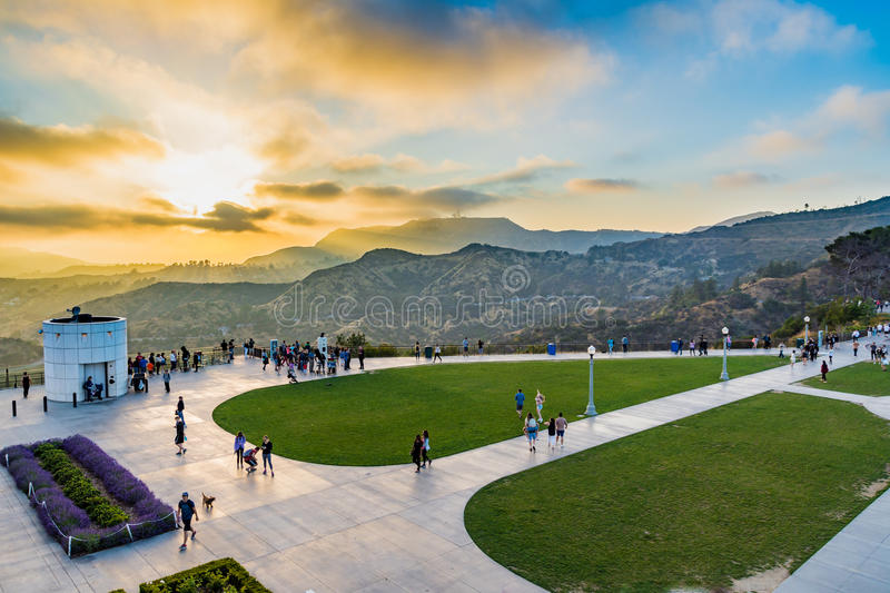 Griffith Park from Griffith observatory stock photography