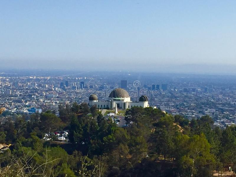 Griffith Park observatorium royaltyfria bilder
