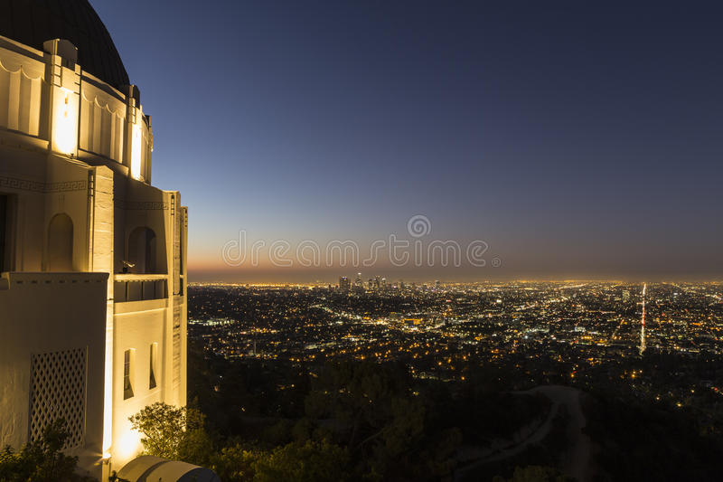 Griffith Park Observatory Dawn royalty free stock photo