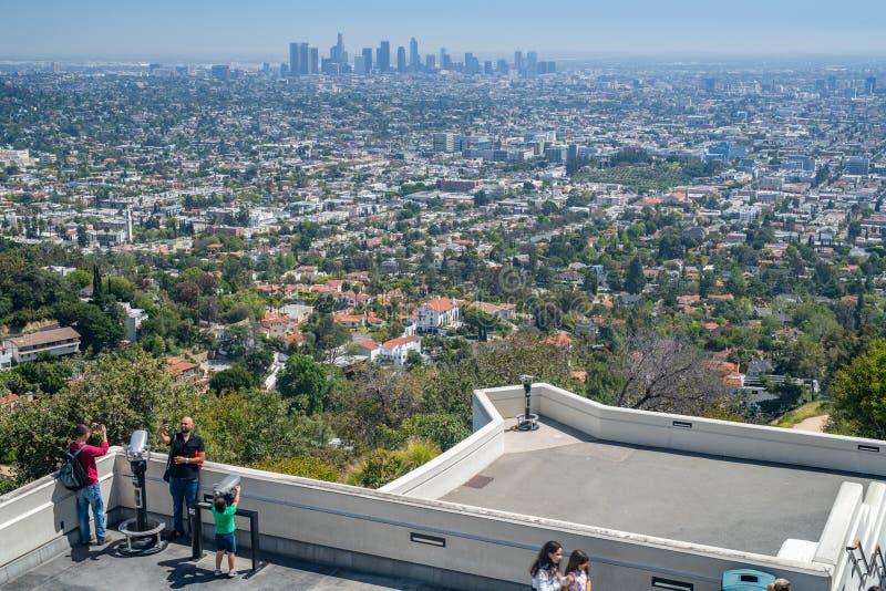 Griffith Park Observatory in Los Angeles lizenzfreie stockbilder