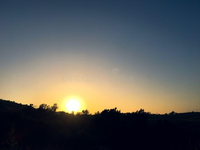 Griffith Park Sunset Cielo variopinto fotografie stock