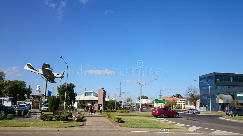 Griffith Town View, Australien lizenzfreie stockbilder