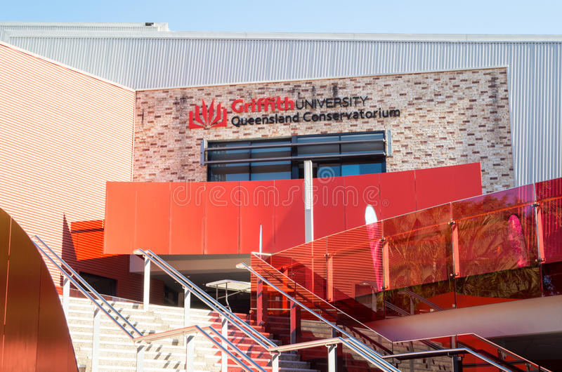 Griffith University Queensland Conservatorium bei Southbank in Brisbane Australien stockbild