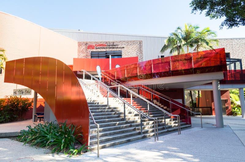 Griffith University Queensland Conservatorium bei Southbank in Brisbane Australien lizenzfreies stockfoto
