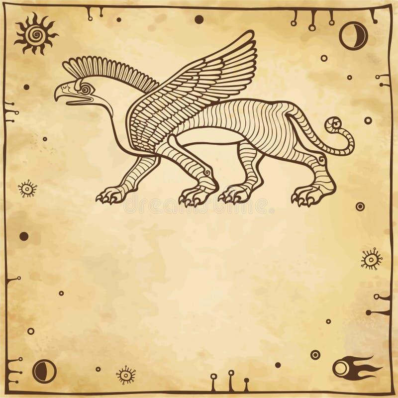 Griffon à ailes fantastique illustration stock
