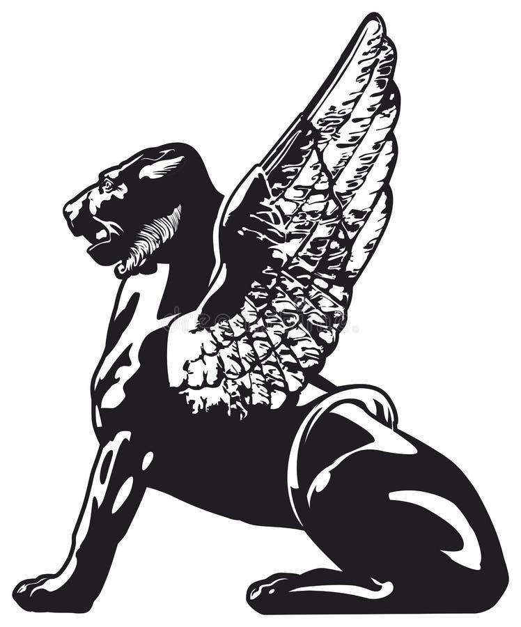 Griffon - animal mythical ilustração stock