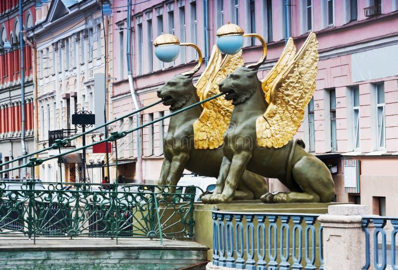 Griffon sculpture of Bank bridge royalty free stock photos