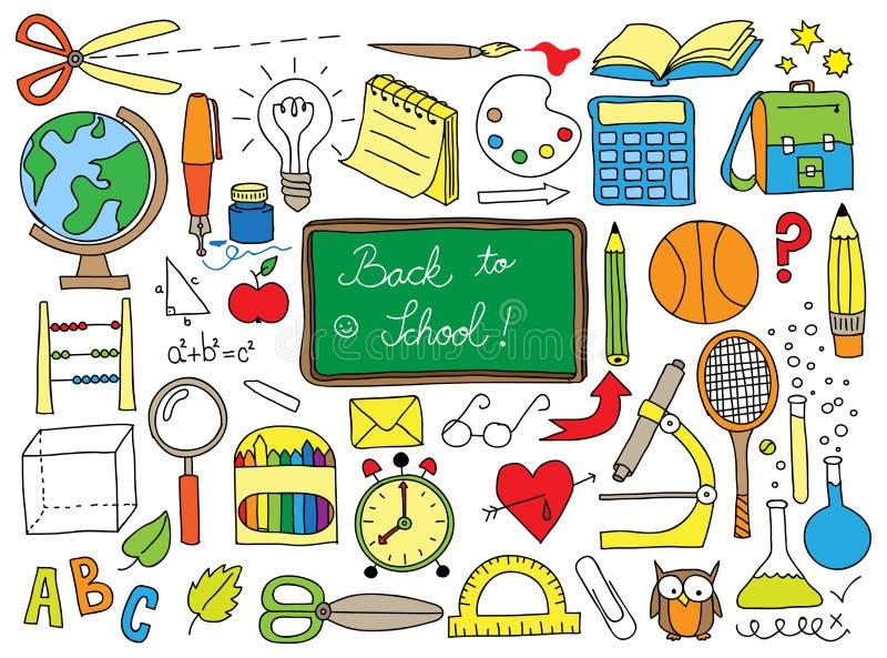 Griffonnage d'école illustration stock