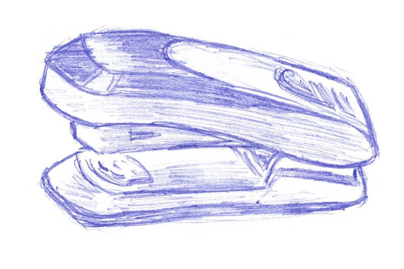 Griffonnage d'agrafeuse illustration de vecteur