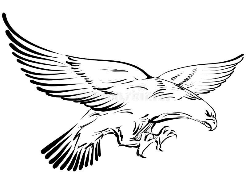 Griffonnage d'aigle illustration de vecteur