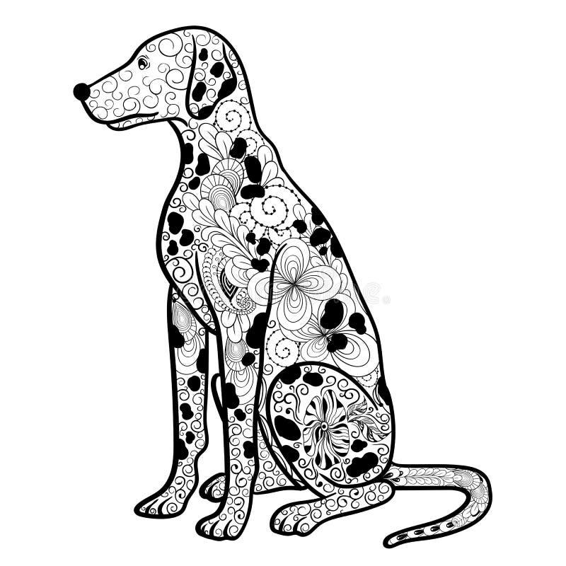 Griffonnage dalmatien de chien illustration libre de droits