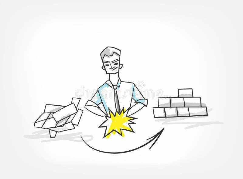 Griffonnage de croquis d'illustration de vecteur de concept de systématisation illustration stock